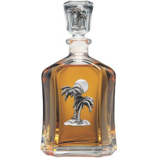 Palm Tree Decanter | Heritage Pewter | CPT4216