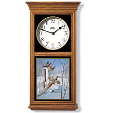 Pheasants Oak Wood Regulator Wall Clock | Wild Wings | 5982662710