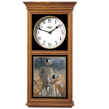 Chickadees Oak Wood Regulator Wall Clock | Wild Wings | 5982662537