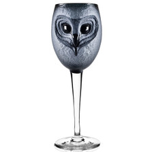 Owl Wine Glass Strix | 42038 | Mats Jonasson Maleras