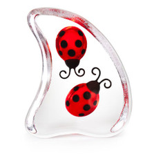 Ladybug Double Crystal Sculpture | 34206 | Mats Jonasson Maleras