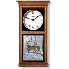 Whitetail Deer Oak Wood Regulator Wall Clock | Wild Wings | 5982662565