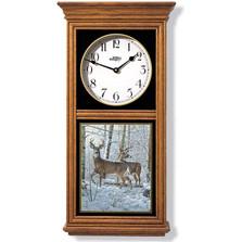 Whitetail Deer Oak Wood Regulator Wall Clock | Wild Wings | 5982662565