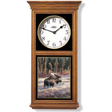 Moose Oak Wood Regulator Wall Clock | Wild Wings | 5982662568