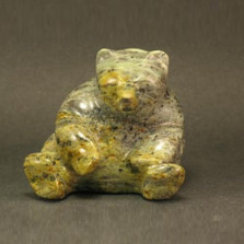Bear Sitting Stone Sculpture | Douglas Creek | 1000-