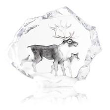 Reindeer Ltd Ed Crystal Sculpture | 34150 | Mats Jonasson Maleras