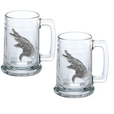 Alligator Stein Set of 2 | Heritage Pewter | ST3770