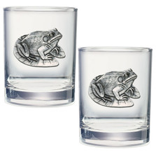 Frog Double Old Fashioned Glass Set of 2 | Heritage Pewter | DOF4114