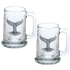 Whale Tail Stein Set of 2 | Heritage Pewter | ST4057