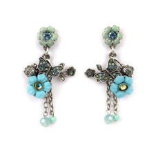 Butterfly Floral Earrings | La Contessa Jewelry | Mary DeMarco | ER9327AQ