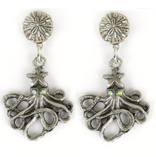 Octopus Drop Earrings | La Contessa Jewelry | Mary DeMarco | ER9340