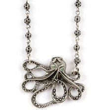 Octopus Pendant Necklace | La Contessa Jewelry | Mary DeMarco | NK9341