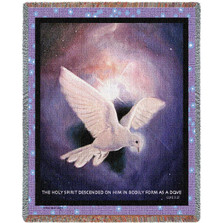 "Dove Tapestry Throw Blanket ""Holy Spirit"" 