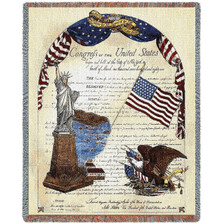 "Eagle Throw Blanket ""Freedom"" 