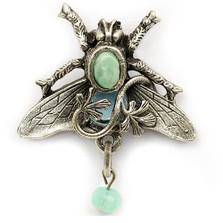 Bee and Vine Pin | La Contessa Jewelry | Mary DeMarco | PN9300TQPO