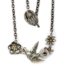 Hummingbird Necklace | La Contessa Jewelry | Mary DeMarco | LCNK9303LC