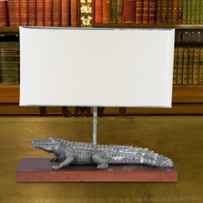 Alligator Lamp | Vagabond House | J770A  -2