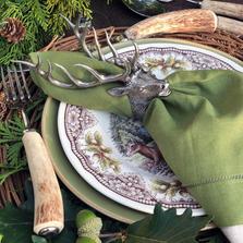Elk Head Napkin Rings Set of Four | Vagabond House | B115E