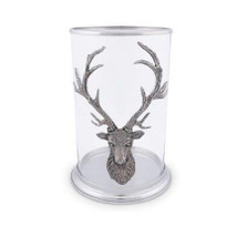 Elk Head Pillar Candle Holder | Vagabond House | B102EL