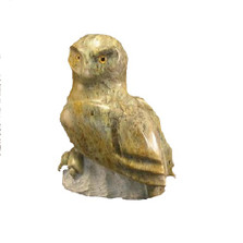 Snowy Owl Stone Sculpture | Douglas Creek | 2100-5 -2