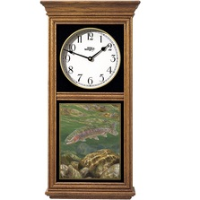 Rainbow Trout Oak Wood Regulator Wall Clock | Wild Wings | 5982662650
