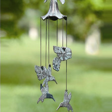 Morning Glory & Hummingbird Wind Chime | 33078 | SPI Home -2
