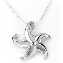 "Starfish Pendant Necklace ""Starry"" 