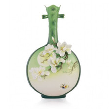 Magnolia Sculptured Porcelain Vase | FZ03339 | Franz Porcelain Collection