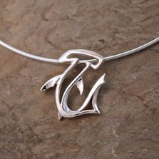 Hammerhead Shark Pendant Necklace | Big Blue Jewelry | BC21-18