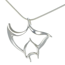"Manta Ray Pendant Necklace ""Big Ray"" 