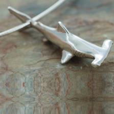 Shark Pendant Necklace | Big Blue Jewelry | Roland St. John | BC06-18