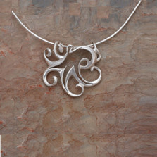 Octopus Pendant Necklace | Big Blue Jewelry | Roland St. John | OCTSS-18