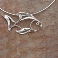 Angel Fish Pendant Necklace | Big Blue Jewelry | Roland St. John | FSSS-18