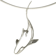 Reef Shark Pendant Necklace | Big Blue Jewelry | Roland St. John | SKSS-18