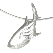 Whale Shark Pendant Necklace | Big Blue Jewelry | Roland St. John | WSSS-18