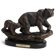 "Bear and Cub Sculpture ""Keep Up"" 
