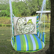 """Frog and Heart Hammock Chair Swing """"Beach Boulevard"""" 