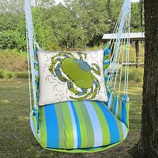 "Crab Beach Hammock Chair Swing ""Beach Boulevard""   Magnolia Casual   BBRR618-SP -2"