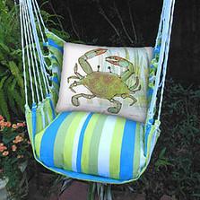 "Blue Crab Hammock Chair Swing ""Beach Boulevard"" | Magnolia Casual | BBRRCIM-SP -2"
