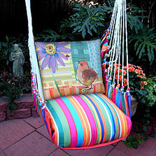 "Bird and Daisy Hammock Chair Swing ""Le Jardin"" 