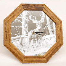 "Deer Oak Clock ""After the Season"" 