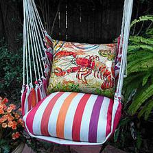 "Lobster Striped Hammock Chair Swing ""Cristina Stripe"" | Magnolia Casual | CRFCLB-SP -2"