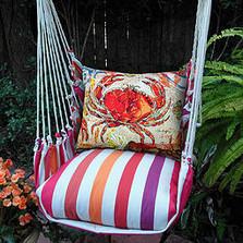 "Crab Striped Hammock Chair Swing Red ""Cristina Stripe"" | Magnolia Casual | CRFCCR-SP -2"