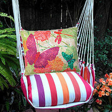 "Butterfly Multi Striped Hammock Chair Swing ""Cristina Stripe"" 