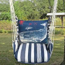 "Whale Nautical Hammock Chair Swing ""Marina"" | Magnolia Casual | MATC611-SP -2"