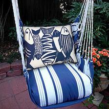 "Fish Nautical Hammock Chair Swing ""Marina"" | Magnolia Casual | MAFSB-SP -2"