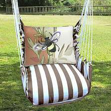 "Bee Hammock Chair Swing ""Striped Chocolate"" 
