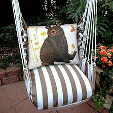 "Bear Hammock Chair Swing ""Striped Chocolate"" | Magnolia Casual | SCRR506SP -2"