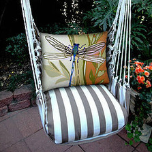 "Dragonfly Striped Hammock Chair Swing ""Striped Chocolate"" 