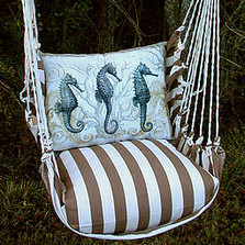 "Seahorse Striped Hammock Chair Swing ""Striped Chocolate"" 